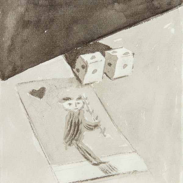 Still Life with Card and Dice