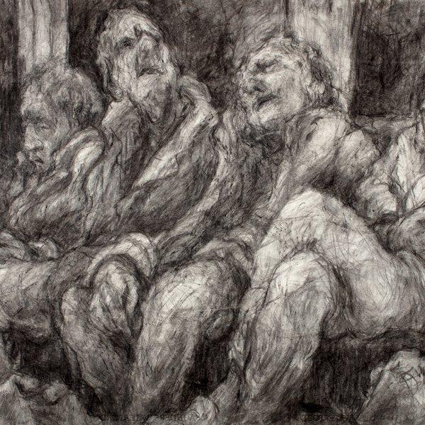 London Underground: Men Sitting