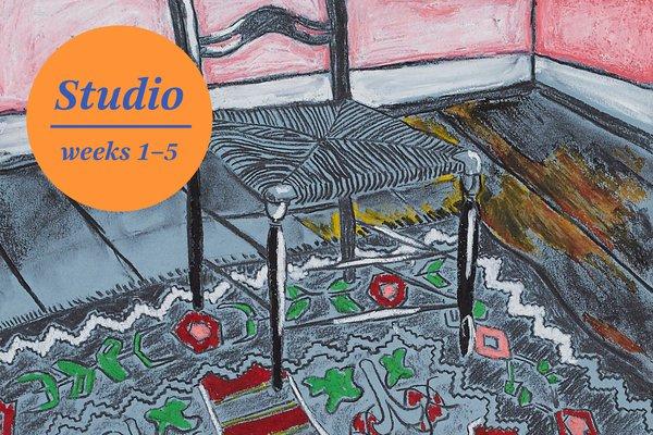 Studio room in colour studio