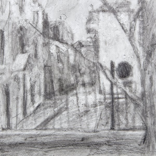 Study of street in the rain II