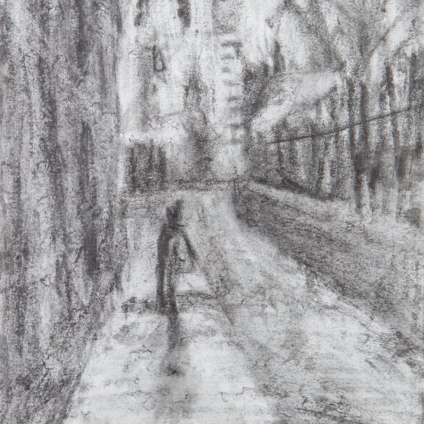 Study of street in the rain I