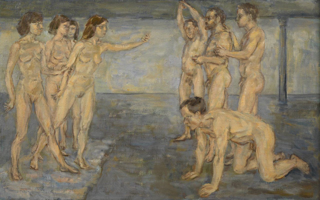 Young Spartans (After Degas)<span>Copyright John Lessore</span>