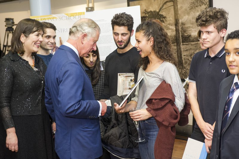HRH The Prince of Wales meets postgraduate students