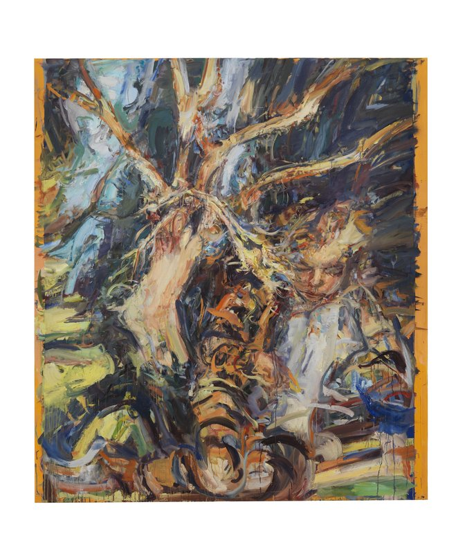 <h3>Tiger Girl </h3><span>Oil on linen  | 226 x 198 cm </span>