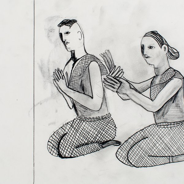 Two Kneeling Devotees
