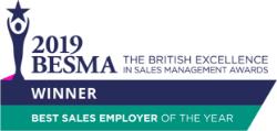 2019 British Excellence in Sales Management Awards Winner