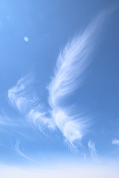 Photograph of a pretty cloud