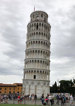 Photo of the leaning tower of Pisa