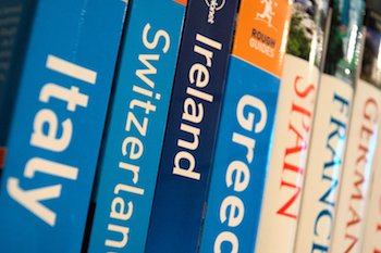 Photograph of some travel books