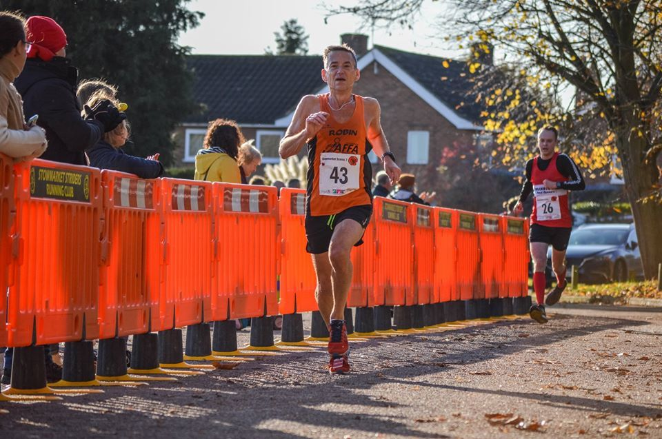 Robin completing the Stowmarket Striders Scenic 7