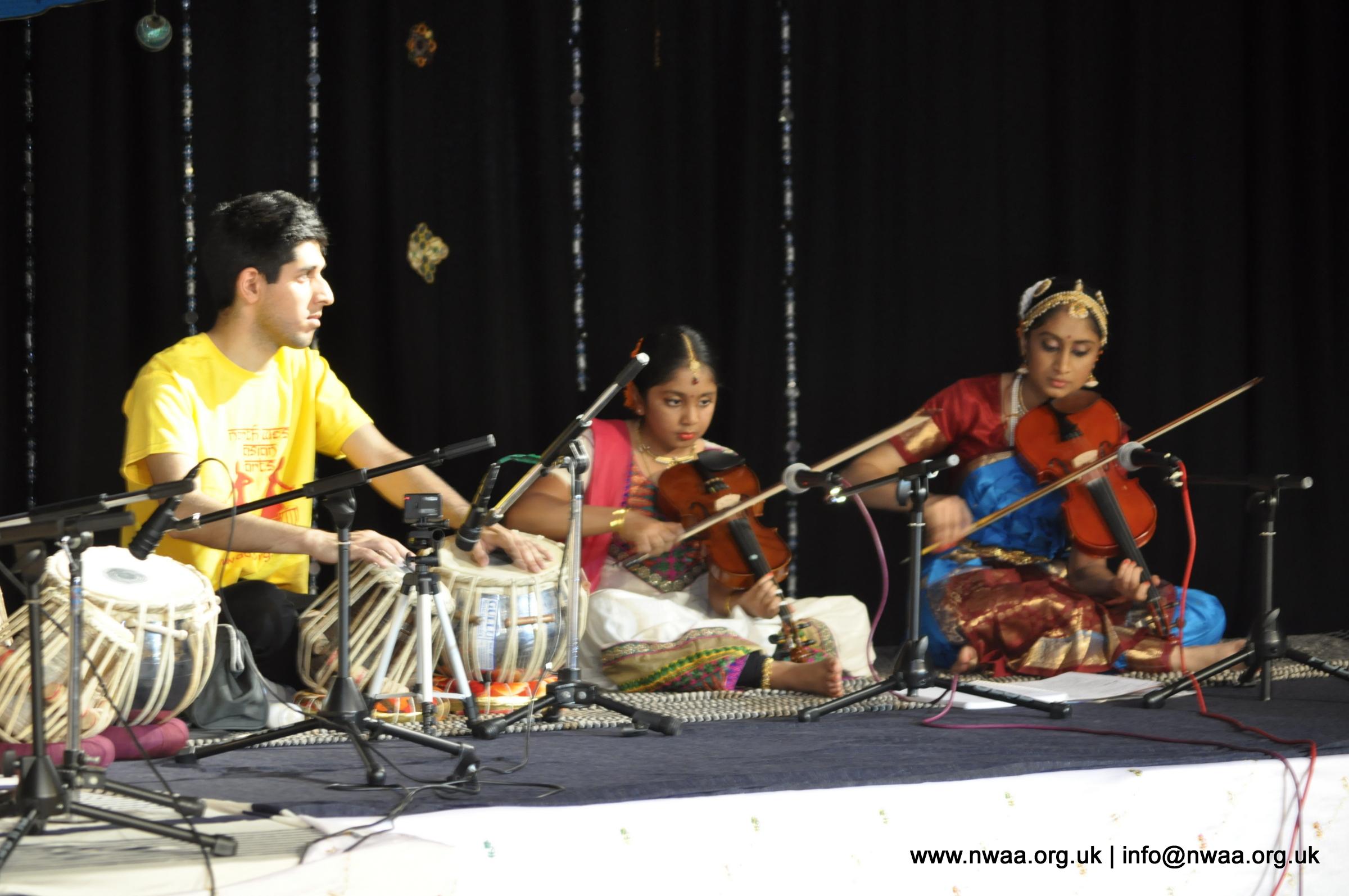 North West Asian Arts, Bolton, Tabla and Violin