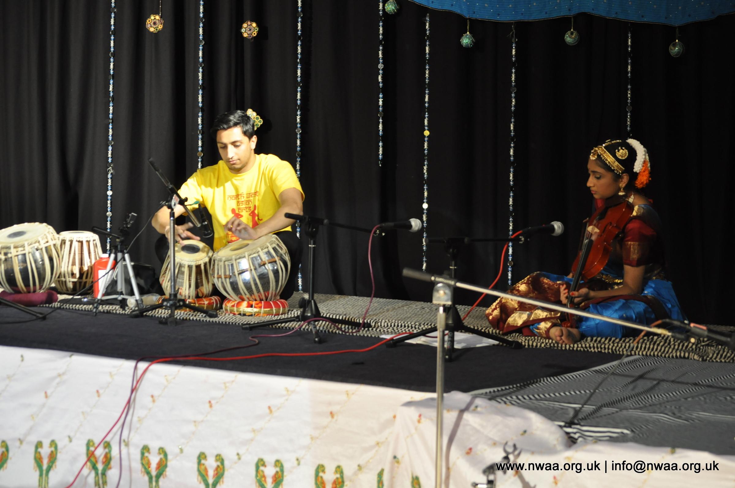 North West Asian Arts, Bolton, Tabla and Violin, Neha Khimani accompanied by Hiten Solanki