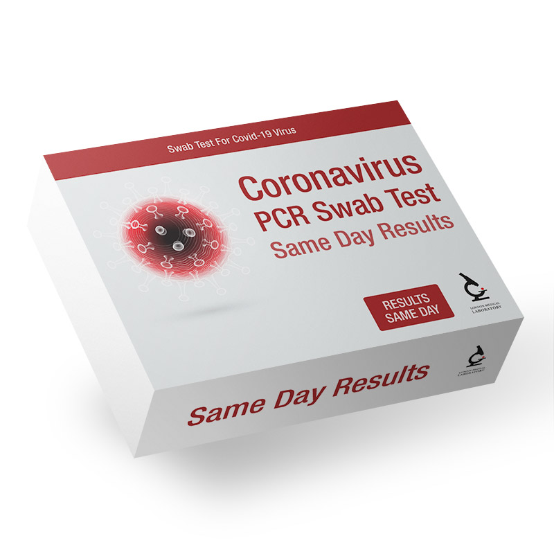 Coronavirus PCR Swab Test - Current Infection - Same Day Results