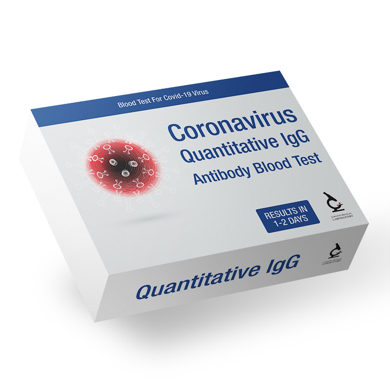 "Coronavirus Vaccine & Immune Response - ""Quantitative"" Antibody Home Blood Test Image"