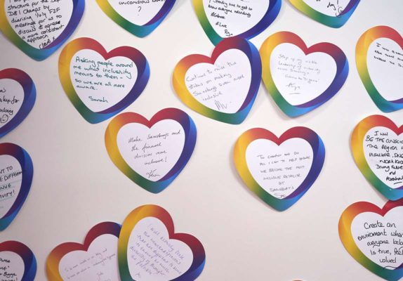 Love heart messages from the Diversity champion programme