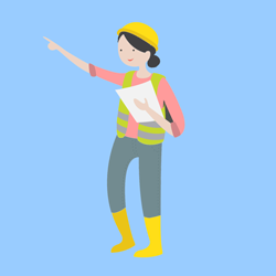 Female electrician graphic