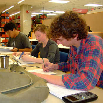 Students studying at university