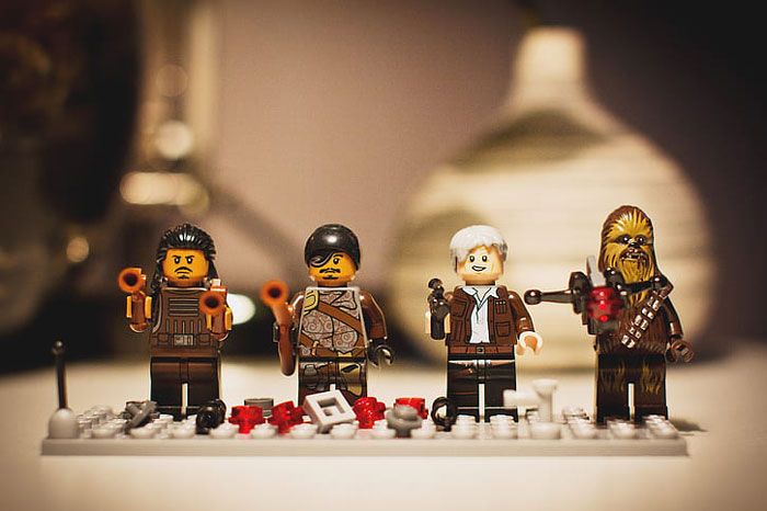 Star Wars characters made out of lego