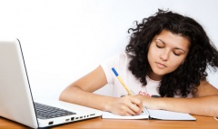 A student doing her finances to work out the cost of university