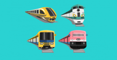 Four types of modern train