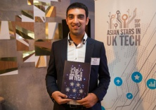 Mitesh looking chuffed at the awards ceremony
