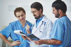 Healthcare professionals and anaesthetist