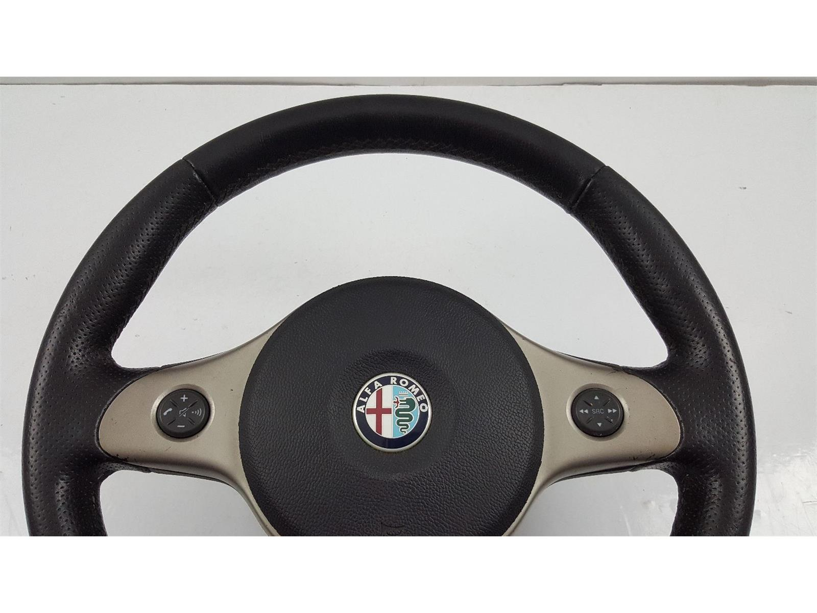 Alfa Romeo 159 2006 To 2009 Steering Wheel Petrol Manual For Mk1 Airbag Black Leather