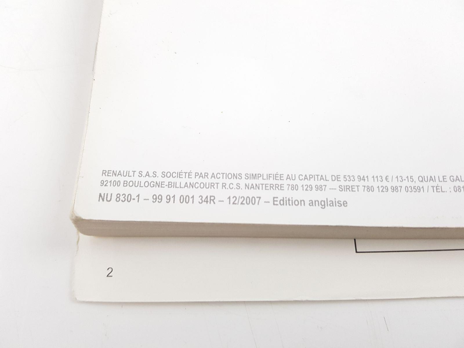 renault koleos 2008 to 2010 book pack diesel manual for sale rh scbvehicledismantlers co uk 2008 Renault Koleos Renault Koleos Interior