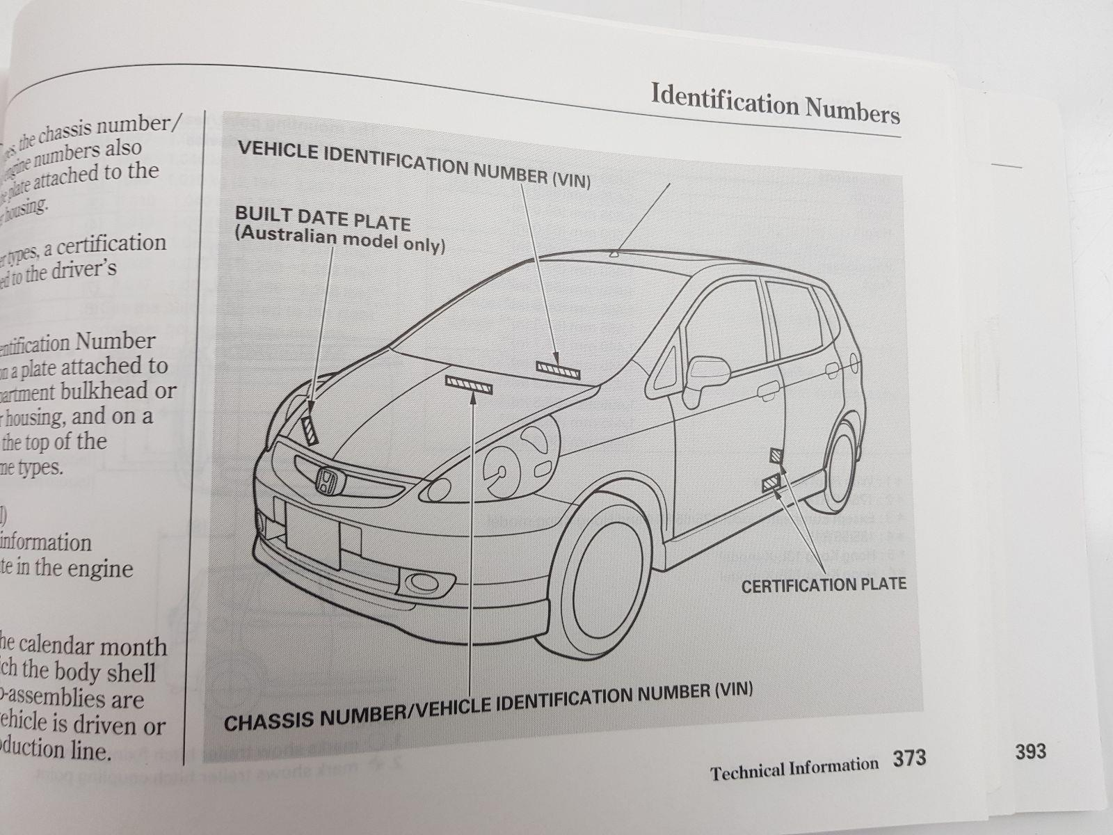 ... 2003 MK2 Honda Jazz OWNERS MANUAL BOOK