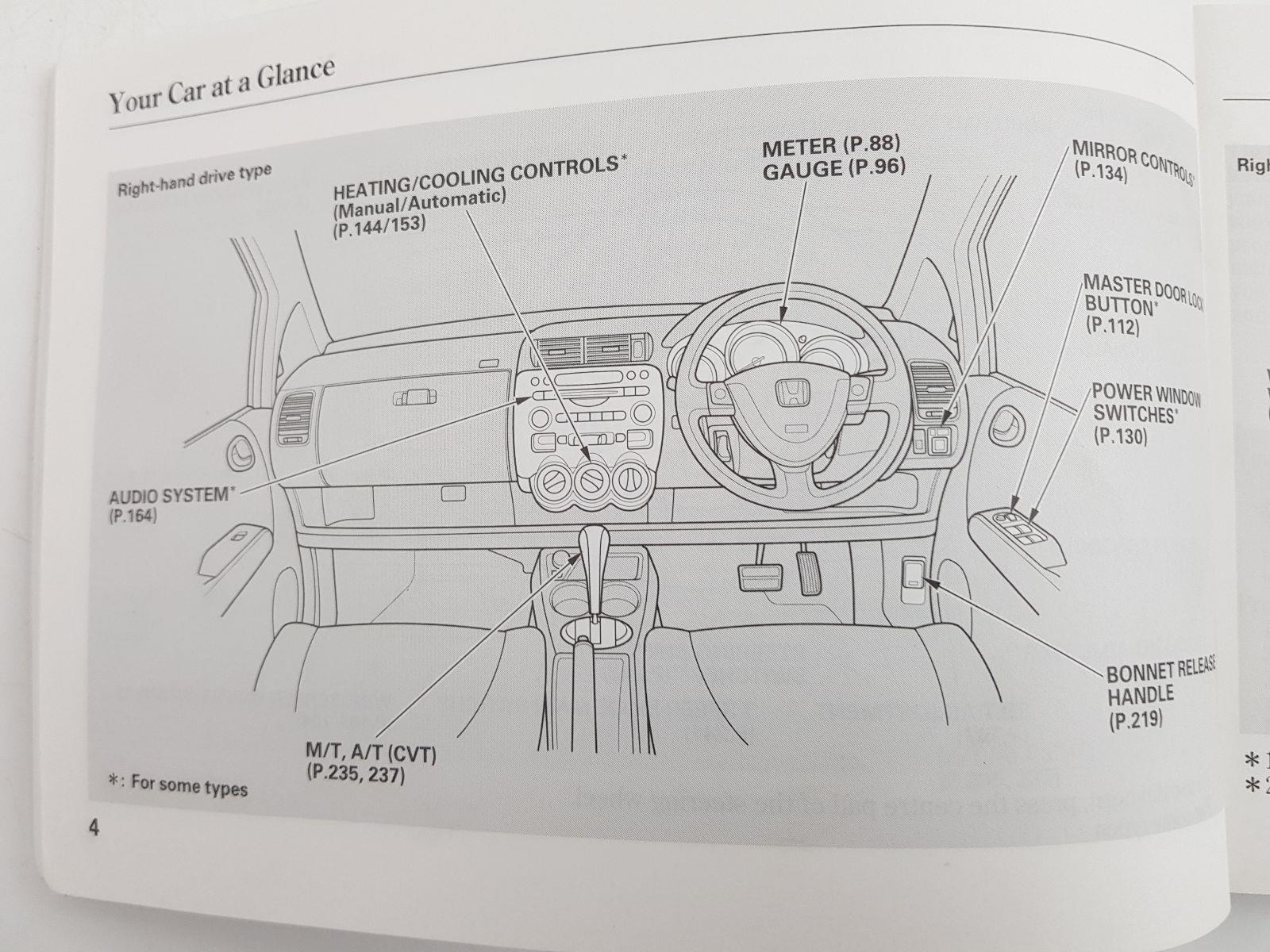 ... 2003 MK2 Honda Jazz OWNERS MANUAL BOOK ...