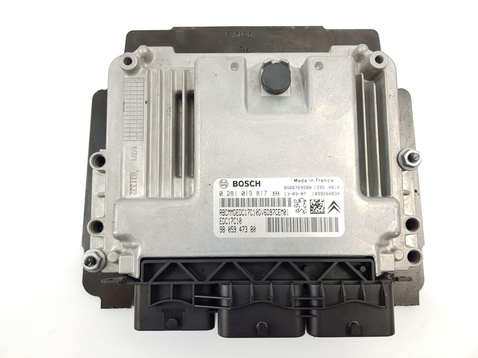Citroen Berlingo 2008 To 2015 Ecu Engine Diesel Manual For Sale Fuse Box Mk2 Kit Speedo Ignition Key 9666729580