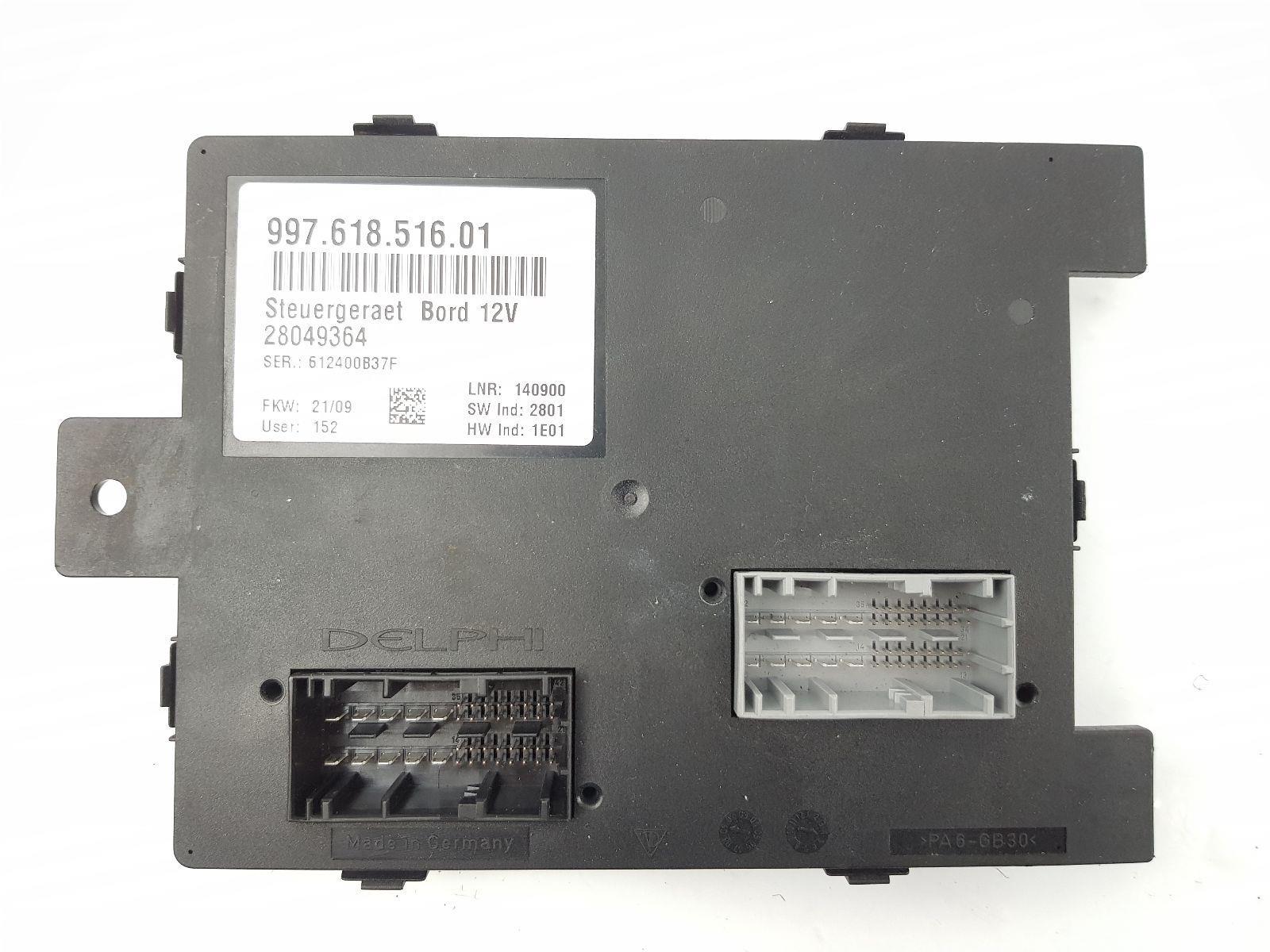 2004-2010 997 porsche 911 fuse box 99761851601