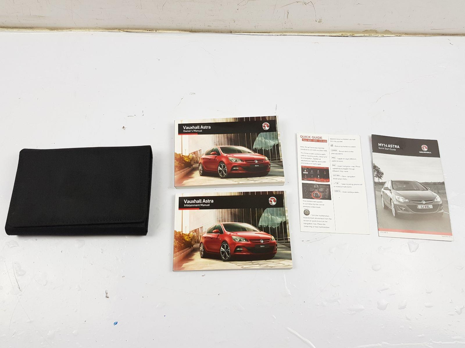 VAUXHALL MK6 (J) (A3400) 2009 TO 2015 Book Pack