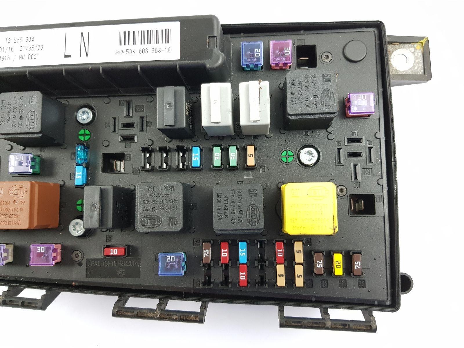 2005-2011 mk5 vauxhall astra h fuse box 13268304 ln