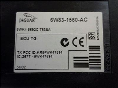 JAGUAR XK TYRE PRESSURE MONITER  6W83-1560-AC