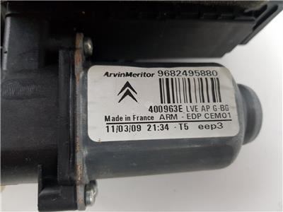 2009 MK1 Citroen Grand C4 Picasso FRONT WINDOW REGULATOR LH Passenger 9682495880
