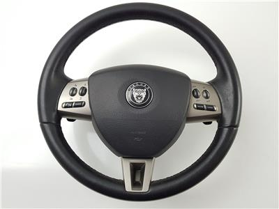 2006 X150 Jaguar XK STEERING WHEEL + Airbag Black Leather 6W83043B13AB0LEG
