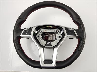 2015 X156 Mercedes GLA Class STEERING WHEEL Black Leather A17246084039E38