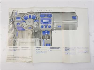 2003-2009 MK5 Volkswagen Golf OWNERS MANUAL BOOK + WALLET