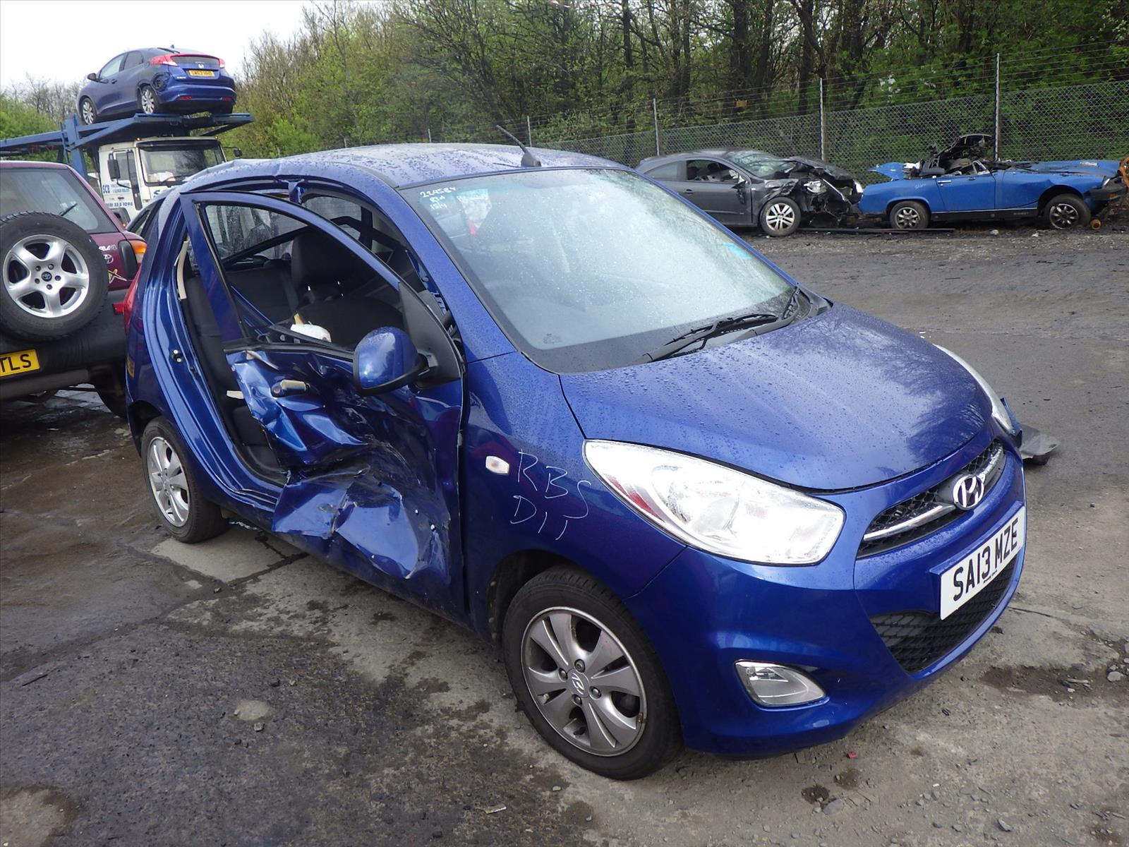 2013 Hyundai i10 2011 To 2013 Style 1.2cc Manual Petrol BLUE 5 door Car  Bonnet