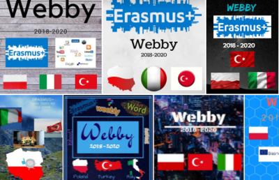 Erasmus+ Webby -  prace uczniów i nauczycieli w canva.com i wordart.com image