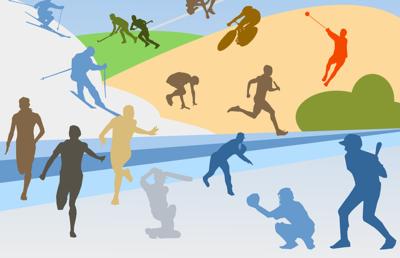 Zawody w łyżwiarstwie szybkim rozgrywane w ramach Powiatowych Igrzysk Dzieci image