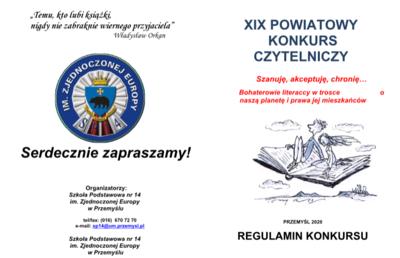 Regulamin XIX Powiatowego Konkursu Czytelniczego image