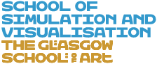 School of simulation and visualisation logo