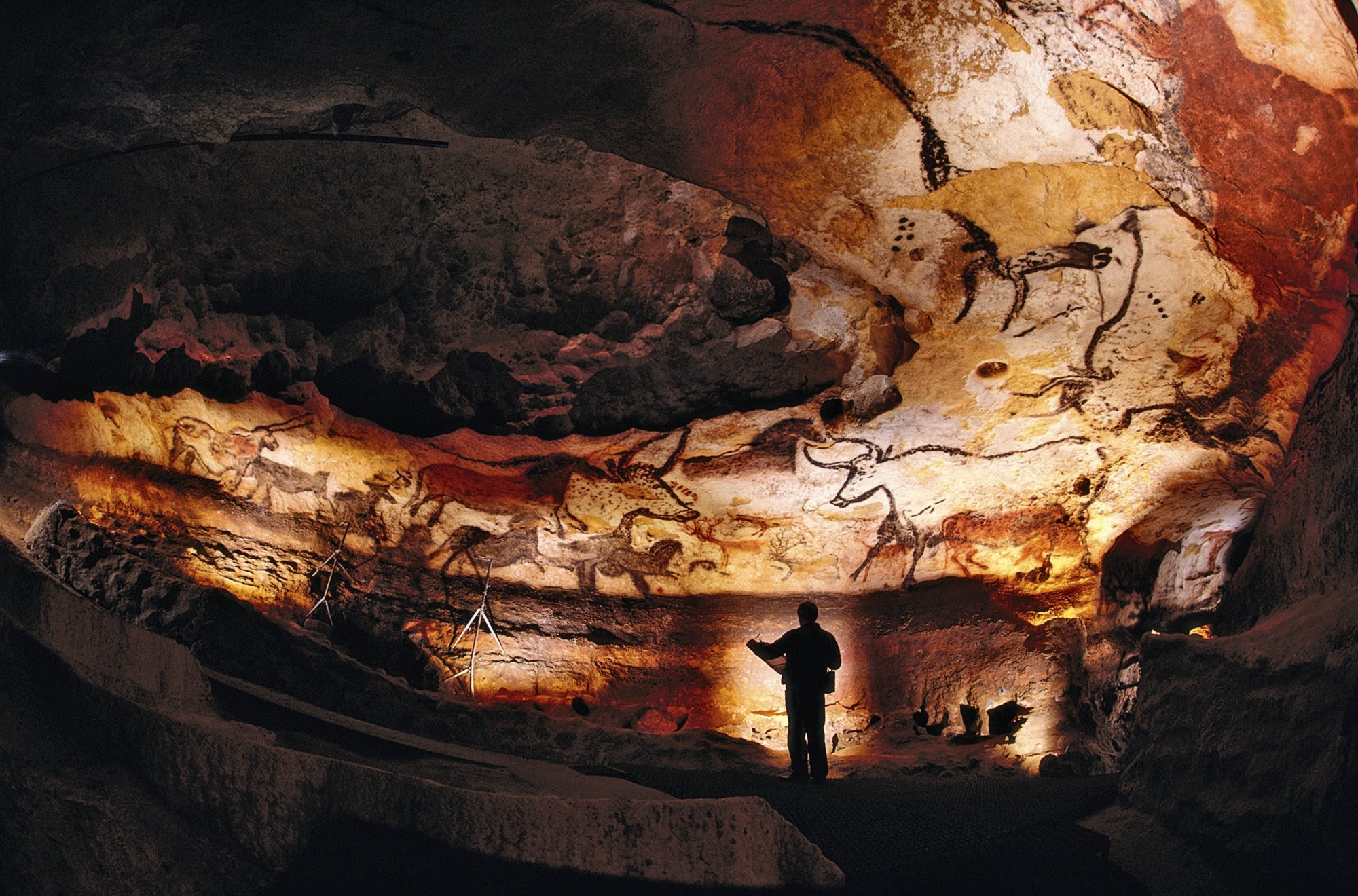 Palaeolithic Paintings at Lascaux Cave (France) (Source: National Geographic)