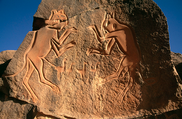 The Fighting Cats (Lybia) (Source: The British Museum)