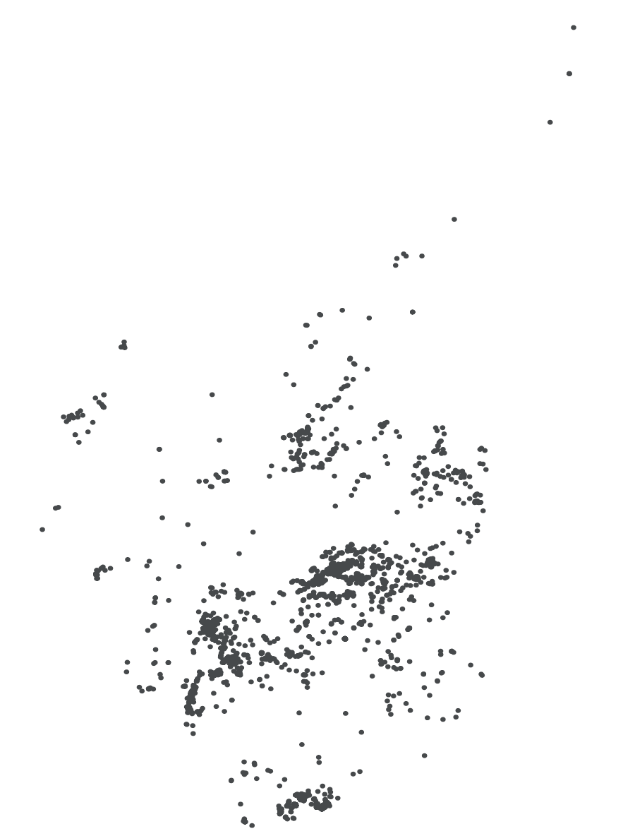 Blank map of Scotland