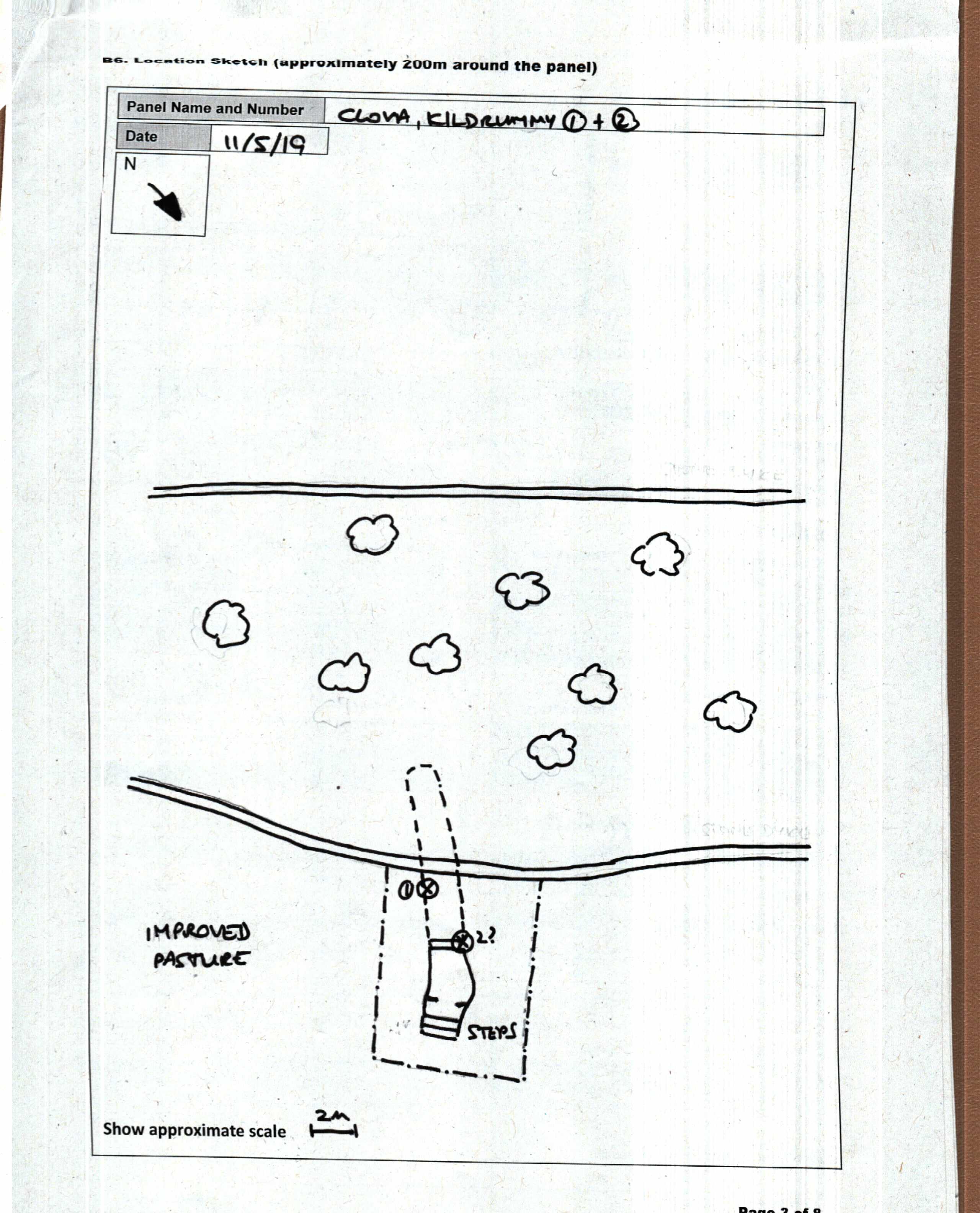 CLOVA, KILDRUMMY 1: Location sketch