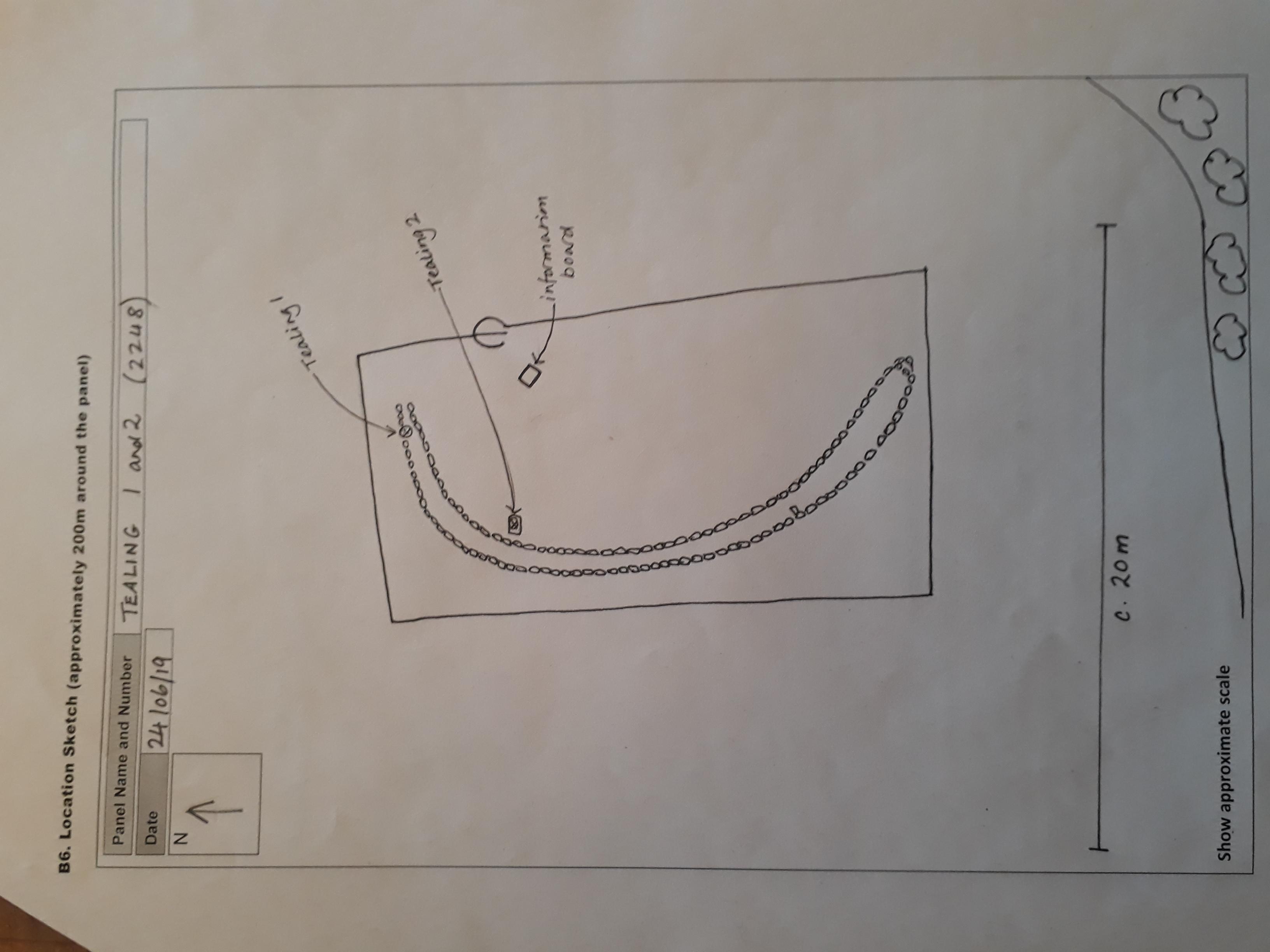 TEALING 1: Location sketch
