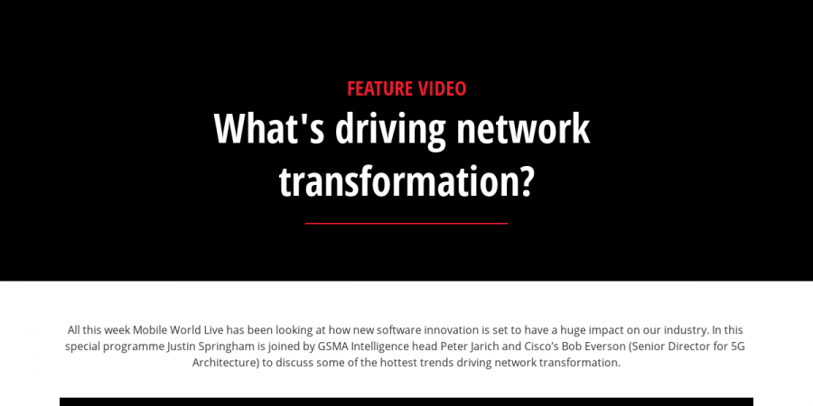 What's driving network transformation?